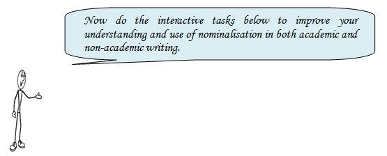Using Academic Style And Tone Nominalisation